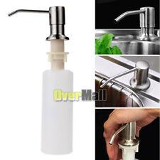 Kitchen Hand Soap Dispenser Plastic Bottle Sink Liquid Under Brushed Nickel Head