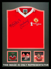 1977 FA Cup Final replica MUFC shirt signed by goalscorers Pearson & Greenhoff