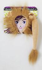 Kids Lion Mane Ears and Tail Combo Set Zoo Animal Jungle Big Cat Safari