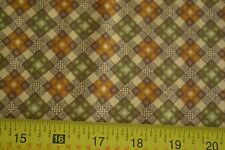 By 1/2 Yd, Gold, Green & Browns Quilting, Thimbleberries/Harvest Homecoming N870