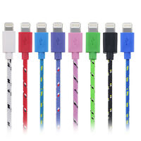 STRONG BRAIDED USB DATA SYNC CHARGER CABLE LEAD for iPhone 6 5 5S 6S 6 Plus iPad