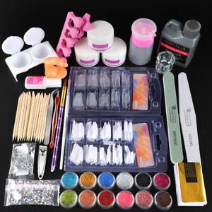 Coscelia Acrylic Powder Liquid Kit Nail Art Tools Nail Tips Manicure Starter Set