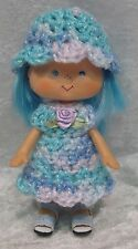STRAWBERRY SHORTCAKE Doll Clothes #16 Handmade Outfit Crochet Dress & Hat Set