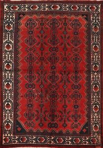 Antique Geometric Malayer Traditional Area Rug hand-knotted Oriental Carpet 6x8