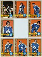 1972-73 Topps Toronto Maple Leafs 8 Card Team Set VG to NM (031220)