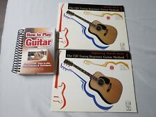 3 New Guitar Books-Beginner Lesson Book 1-Chords Book 1-How to Play Guitar Book