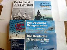6 Bücher über die deutsche Kriegsmarine, Flottentaschenbuch Deutschland