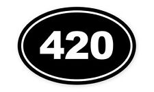 "420 Weed Legalize Marijuana  Oval car window bumper sticker decal 5"" x 3"""