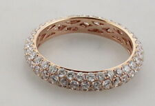 New Well Made 18K Rose GOLD 1.96 ctw.DIAMOND Eternity BAND RING Size 6.5