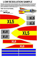 Museum Quality Fireball XL5 TV Style Sticker Set Decals for 20 Inch MPC Toy