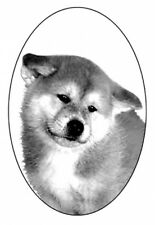 "4"" X 6"" Akita static cling etched glass window decal"