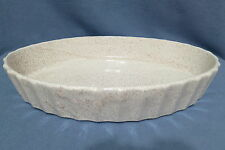 Vintage Blue Mountain Pottery Cream & Brown Speckled Oval Baking Dish Canada