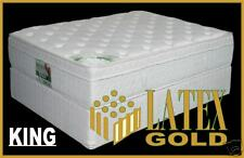 KING Latex Gold Luxury Pillow Top Mattress - 100% NATURAL LUXURY LATEX EURO !!
