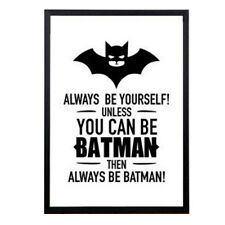 30x40cm Batman Designed Knight Vintage Movie Poster Art Print Black White Canvas