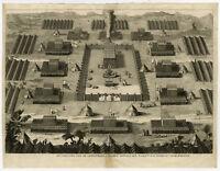 Antique Print-TWELVE TRIBES-ARMY-TABERNACLE-DESERT-ISRAEL-JEWS-Calmet-1725