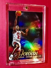 Michael Jordan RARE FLAIR SHOWCASE REFRACTOR 1996-97 Bulls Basketball Card Mint!