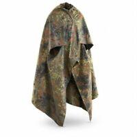 Genuine German army Shelter half tarpaulin fleckt. waterproof canvas tent poncho
