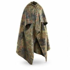 Genuine German army Shelter half tarpaulin fleckt. waterproof canvas tent poncho