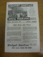 25/01/1947 Stockport County v Barrow [Division 3 North] . Any faults with this i