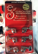 Grover 406C Mini Rotomatic Locking 18:1 Guitar Machine Heads Tuners - 3x3 CHROME