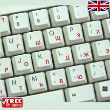 Russo TRASPARENTI TASTIERA ADESIVI con lettere Rosso per Laptop PC Computer