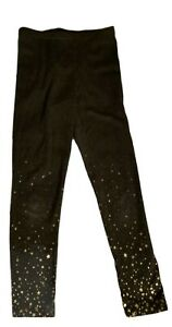Old Navy Girls Stretch Pants Leggings 5 Xs Gray Gold Stars