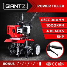 Giantz Garden Cultivator 65cc Tiller Petrol Rotary Hoe Mini 4 Tine Rototiller