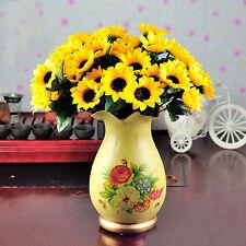 7Head Artificial Sunflower Fake Silk Flower Bouquet Home Wedding Floral Decor