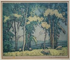 FRED HAINES Canadian Artist Original Signed Early Ontario Landscape Etching