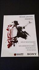 MICHAEL JACKSON IMMORTAL SONY/ATV SALUTE RARE ORIGINAL PRINT PROMO POSTER AD