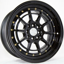 AODHAN AH04 16x8 4x100 / 4x114.3 +15 Black (PAIR) wheels
