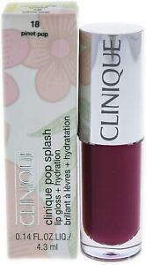 Clinique Pop Splash Lip Gloss + Hydration 4.3ml  - 18 Pinot Pop.RRP £18.