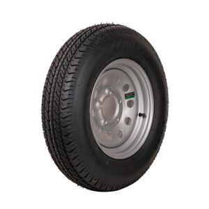"13"" Silver Mod Trailer Wheel ST175/80D13 Tire Mounted (5x4.5) Bolt Circle"