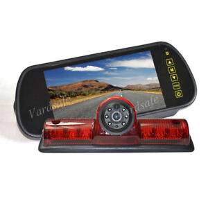 Brake Light Rear View Backup Camera +Mirror Monitor For Nissan NV 1500 2500 3500