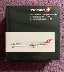 Herpa Wings - 1:500 Scale Swissair McDonnell Douglas MD-81 Boxed