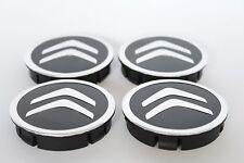 CITROEN 4pcs Plastic Wheel Centre Caps with Alu Emblem 60mm/55mm NEW