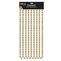 Christmas Tree Decoration 2.7 Metre Bead Garland (DP) - Gold