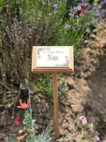 wooden memorial stake with free engraved plaque choice in lengths tree marker