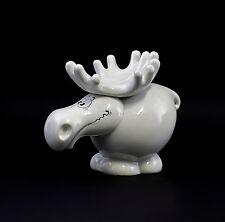 Porzellanfigur Elch mit Gesicht Karikatur W&A vorm.Adam&Ziege H15,5cm 9942749
