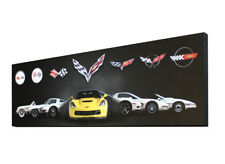 Corvette Gallery Generations Panoramic Noses Print Canvas