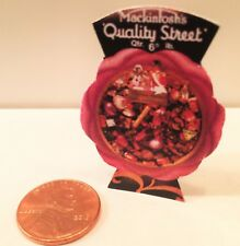 Dollhouse miniatures 1:12 Quality Street Standing Advertising Sign 1930s NEW
