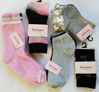 JUICY COUTURE WOMEN'S SOCKS SETS:NWT CREW, ANKLETS, SLIPPER SOCKS
