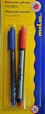 Red and Blue CD/DVD Marker Pens - Free UK Postage Use for CDs DVDs Food Bags etc