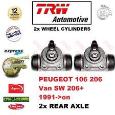Pour Peugeot 106 206 Van de Sw 206 + 1991- > sur 2x Essieu Arrière Cylindre Roue