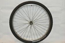 "Matrix 26"" Front MTB Bike Wheel Deore LX Hub Silver OLW100 18mm 32S PV Charity!!"