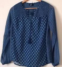 V-Neckline Polka Dot Long Sleeve Tops for Women