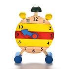 Wooden Clock Jigsaw Block Puzzle Kids Montessori Time Education Educational Toys