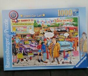 Ravensburger. 1000 piece. Used Car Lot. No. 196920