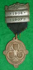 Surrey County Council BRONZO MEDAGLIONE frequenza SCOLASTICA 1905/1906/1907 BAR
