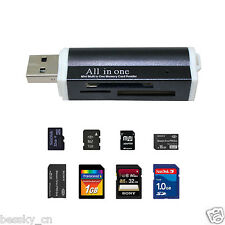 for Micro SD SDHC TF M2 MMC MS PRO DUO All in 1 USB 2.0 Multi Memory Card Reader
